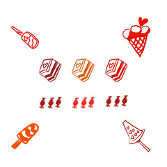 candies line icons set , vector illustration, sweetest day