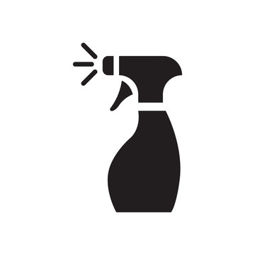 Glass cleaner vector icon