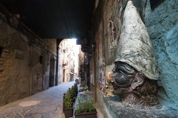 Neapolitan statue of Pulcinella