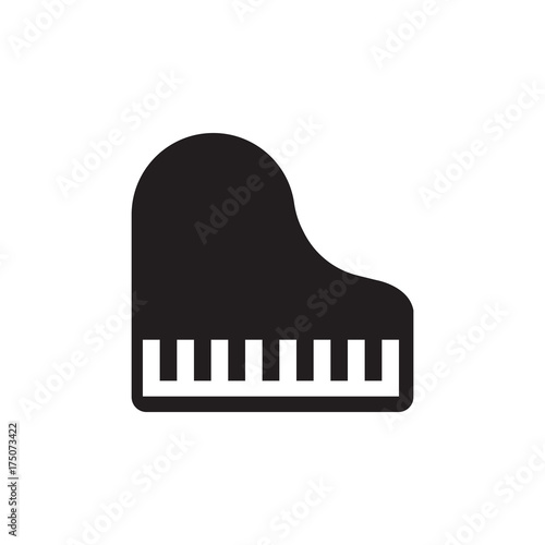 Piano Vector Icon Stock Image And Royalty Free Files On