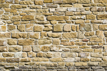 Antique Old Natural Stone Wall Background Texture Or Pattern