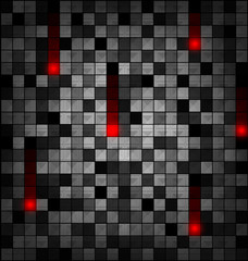 colored image of gray red blocks