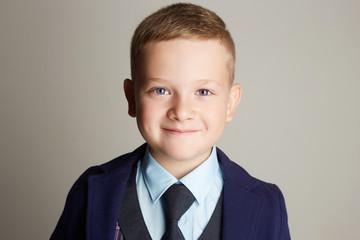 smiling child.fashionable little boy