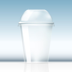 Realistic Clear Plastic Cup