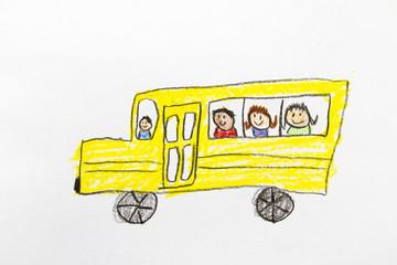 Kid Drawing: School Bus