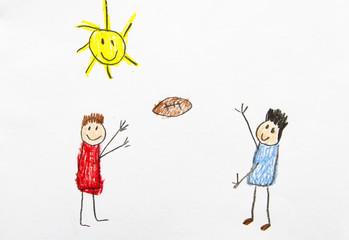 Kid Drawing: Football