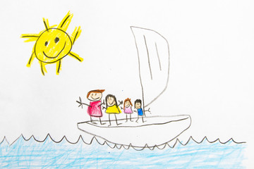 Kid Drawing: Boat
