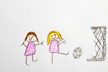 Kid Drawing: Soccer