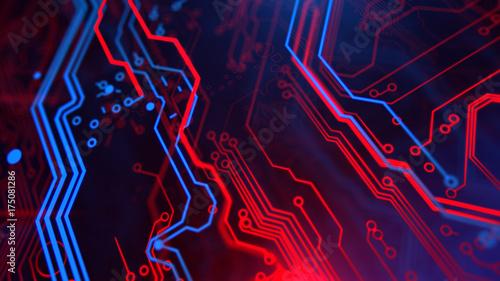 Astonishing Technology Terminal Background Digital Red Blue Backdrop Printed Wiring Digital Resources Biosshebarightsorg