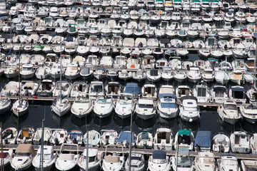 Boats in the Harbour at Marseilles, France