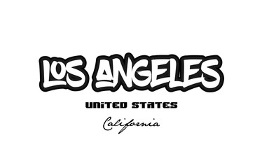 United States los angeles california city graffitti font typography design