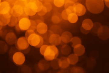 abstract bokeh background orange  color