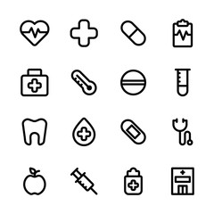 Healthcare and Medical Icon Set. Set Created For Mobile, Web And Applications.