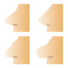Set of Different Human Nose
