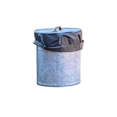 Trash can isolated on white background. This has clipping path.