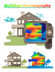 Building thermography illustration. 
