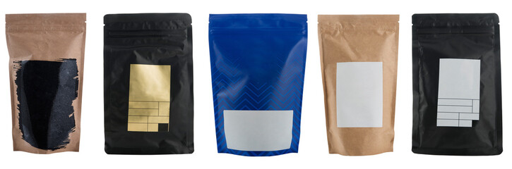 Set of coffee bags