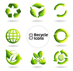 8 Recycle Icons