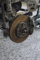 Disc brake of a crashed car