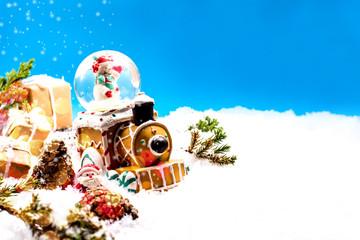 Merry Christmas and Happy New Year, winter season