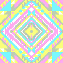 Abstract geometric design. Multicolor tribal background. Vector illustration.