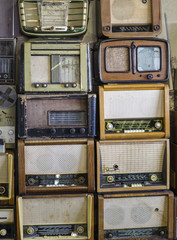 warehouse of old radios