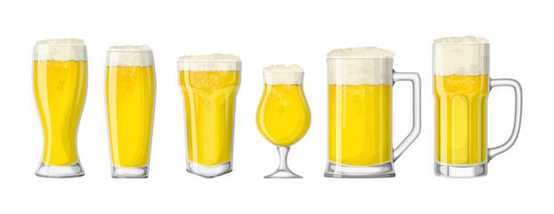 Beer glasses set.