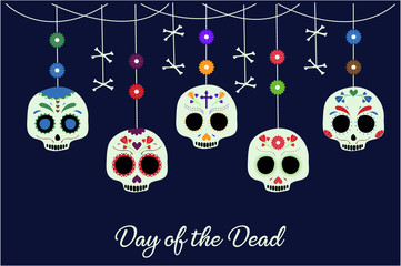Day of the Dead card or background.