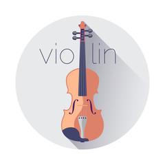 Violin flat vector illustration