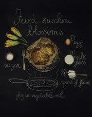 Zucchini blossoms recipe