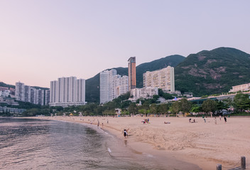 View of Repulse Bay beach in the southern part of Hong Kong Island,The Repulse Bay is one of the high end living area in Hong Kong.