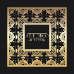 Art deco ornamental vintage frame. Template for design. Vector illustration eps10