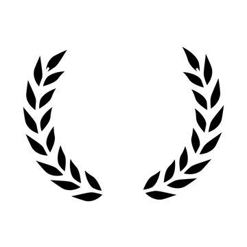 wreath leafs crown icon
