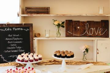 Cupcake Menu and Cupcakes at an Event