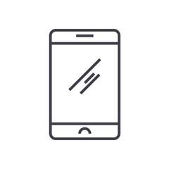 classic smartphone vector line icon, sign, illustration on white background, editable strokes