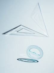 Square ruler and goniometer