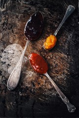 Jams in spoons