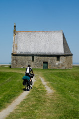 Cycling around Mont Saint Michel in Brittany, France