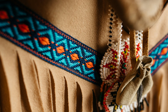 Fringes on a native indian tunic