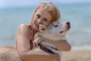 Husky and blonde
