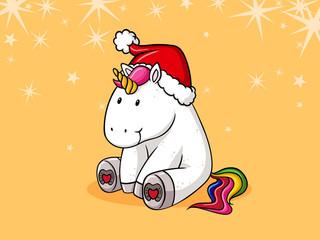 Weihnachts Comic Einhorn