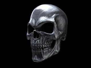 Heavy metal death skull