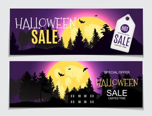 Abstract Vector Illustration Halloween Sale Background