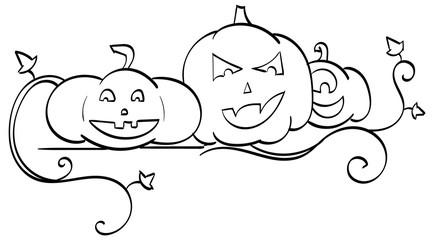 Three Jack-o-Lanterns
