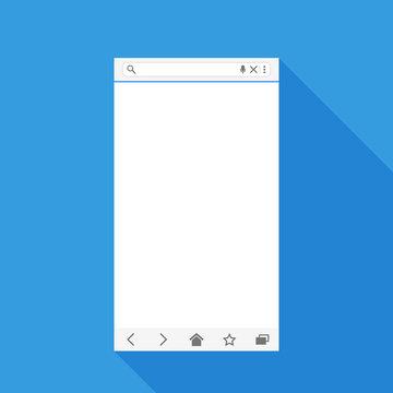 Mobile web browser form.