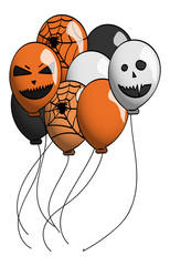 Spooky Halloween Themed Balloons