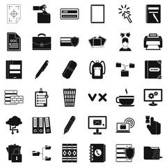 Information icons set, simle style