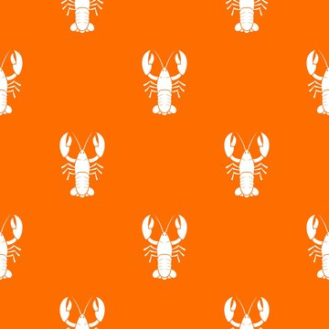 Crawfish pattern seamless