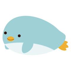 横向きのペンギン