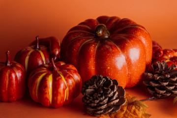 Halloween pumpkins. Halloween background.